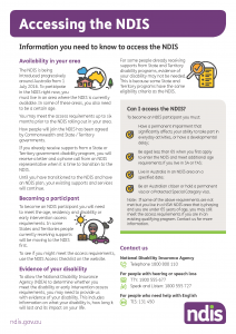 Accessing the NDIS
