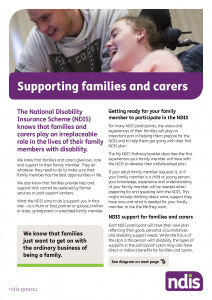 Supporting families & carers