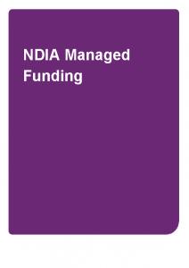 NDIA Managed Funding