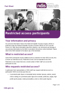 Restricted Access Participants