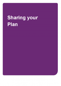 Sharing Your Plan